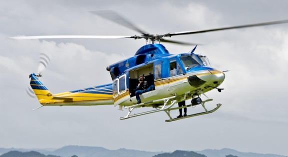 Helicopter rental for filming